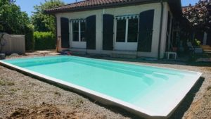 Installation piscine coque polyester Tournefeuille 31170 Haute Garonne 31 Toulouse