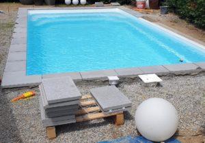 ceinture béton / pose margelles piscine coque Tournefeuille 31170 Haute Garonne 31 Toulouse