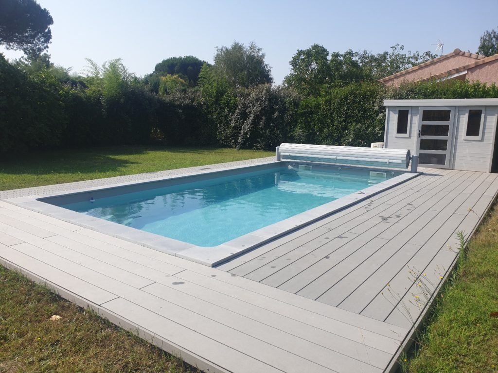 Terrasse en bois composite gris Cugnaux 31270 Haute Garonne 31