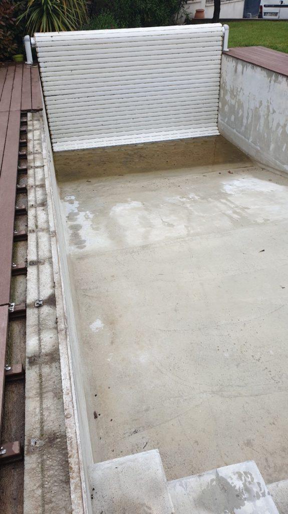 Dépose liner volet piscine Toulouse 31