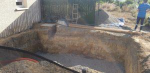 Terrassement piscine coque polyester Blagnac 31